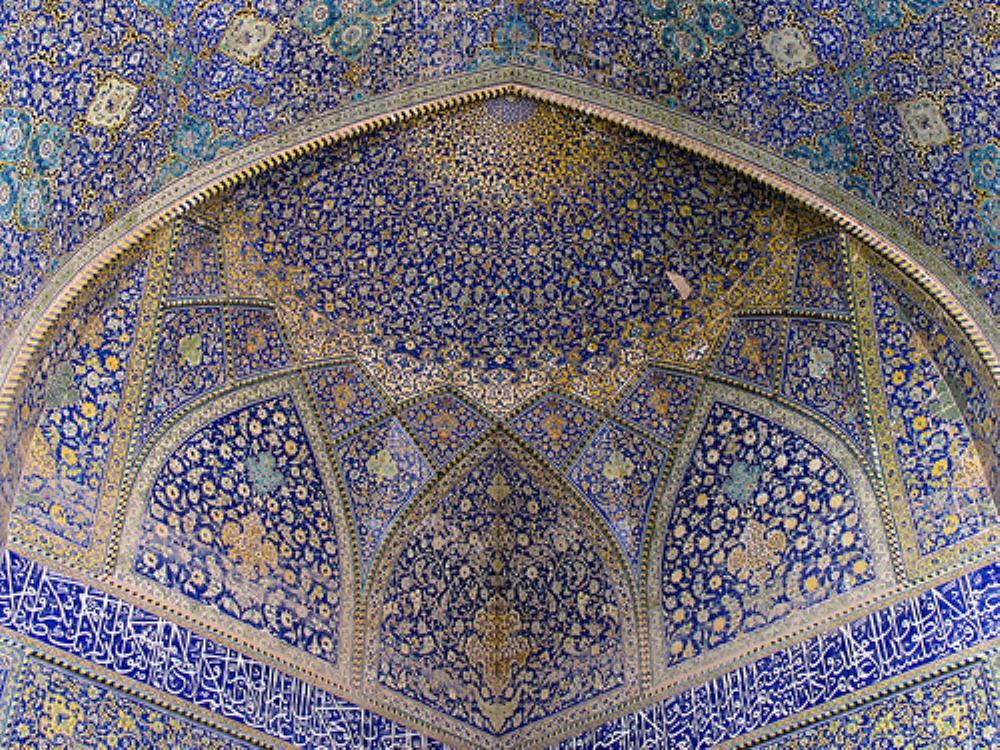 کاشی کاری معرق از مسجد جامع عباسی
